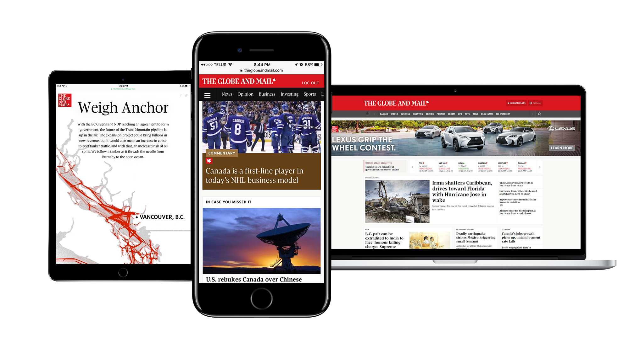 The Globe's Digital Platforms