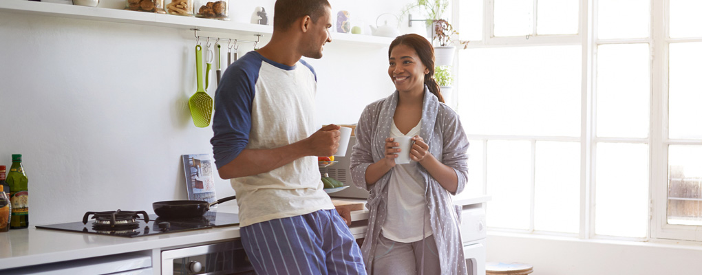 Young couple seeking advice on money matters, financial planning, career development, buying a home and starting a family