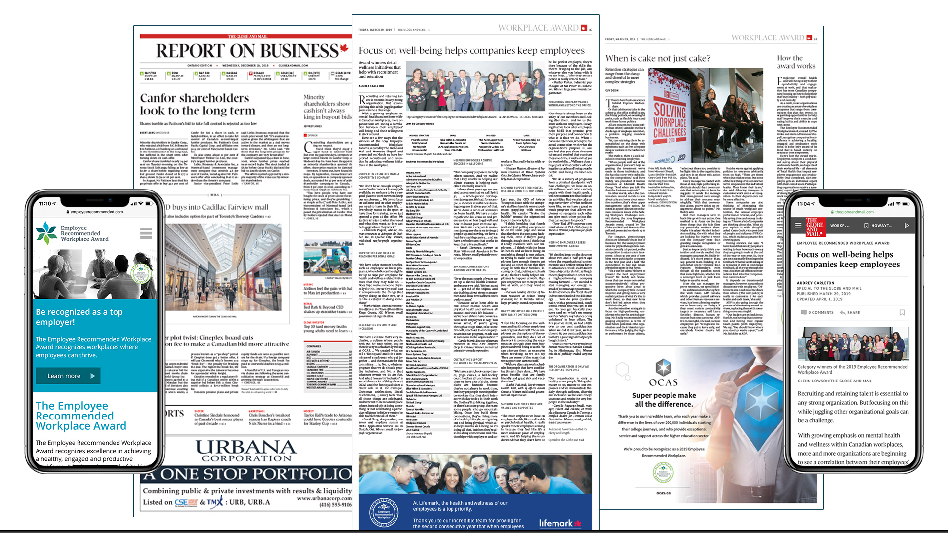 Globe and Mail Employee Recommended Award Special Report
