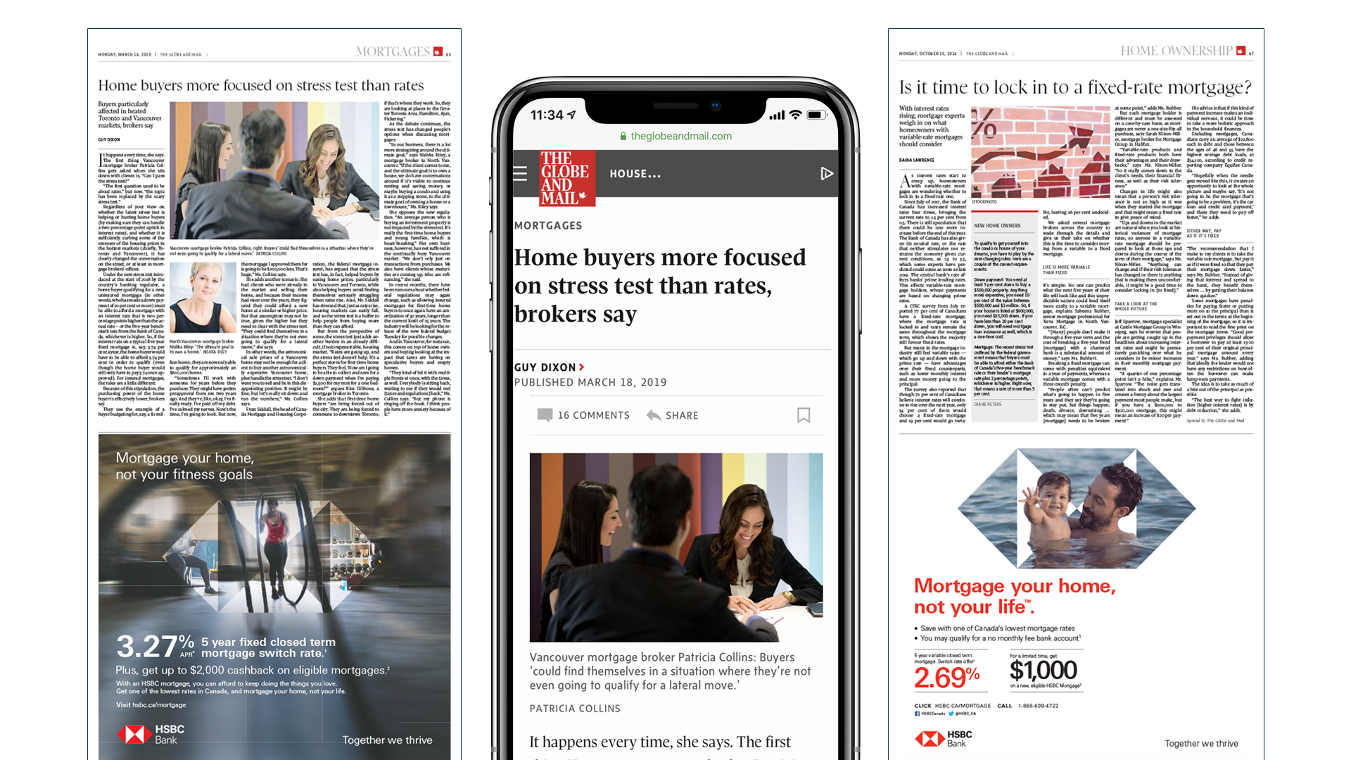 Globe Mortgages special reports published seasonal 4x times a year - in print and digital platforms