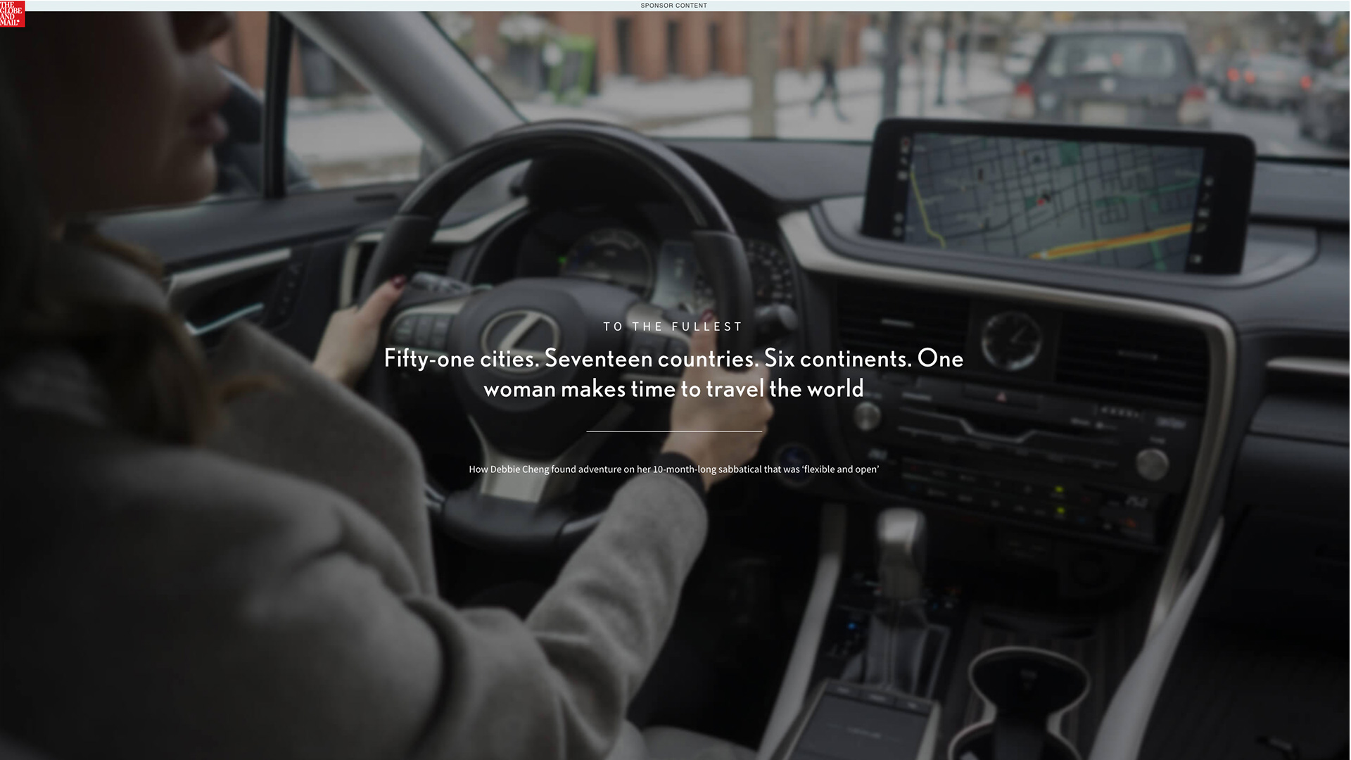 Lexus - digital custom content program with The Globe and Mail