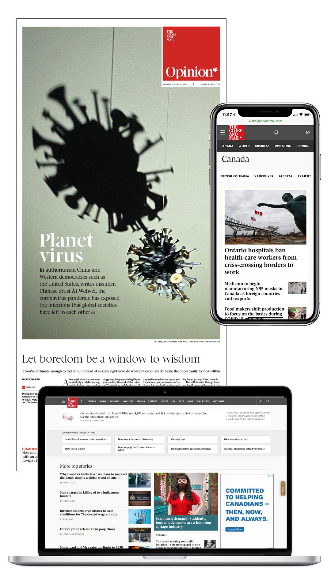 Reader appreciation for The Globe's COVID-19 coverage.