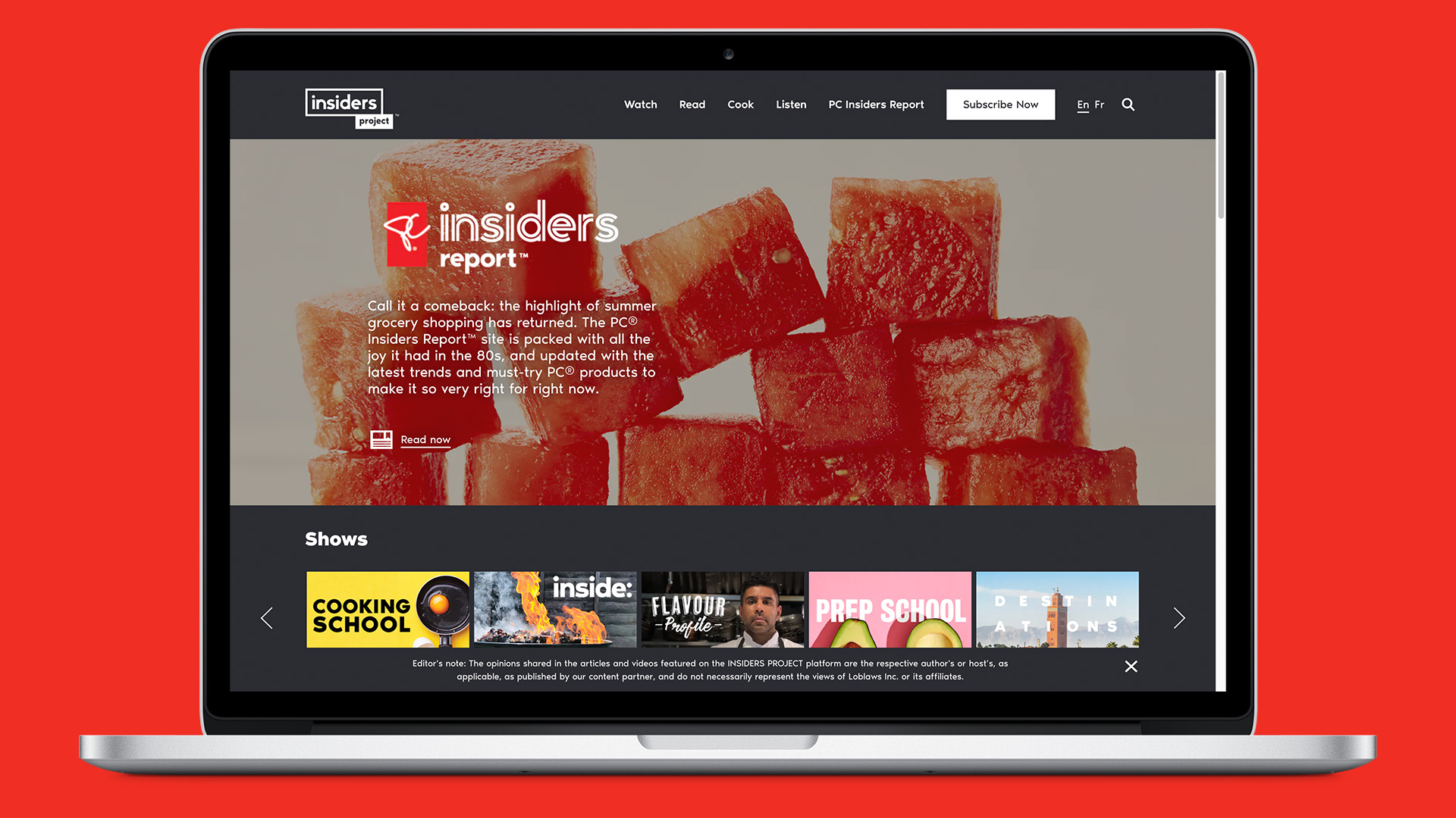 Globe Content Studio - PC Insiders Report homepage experience