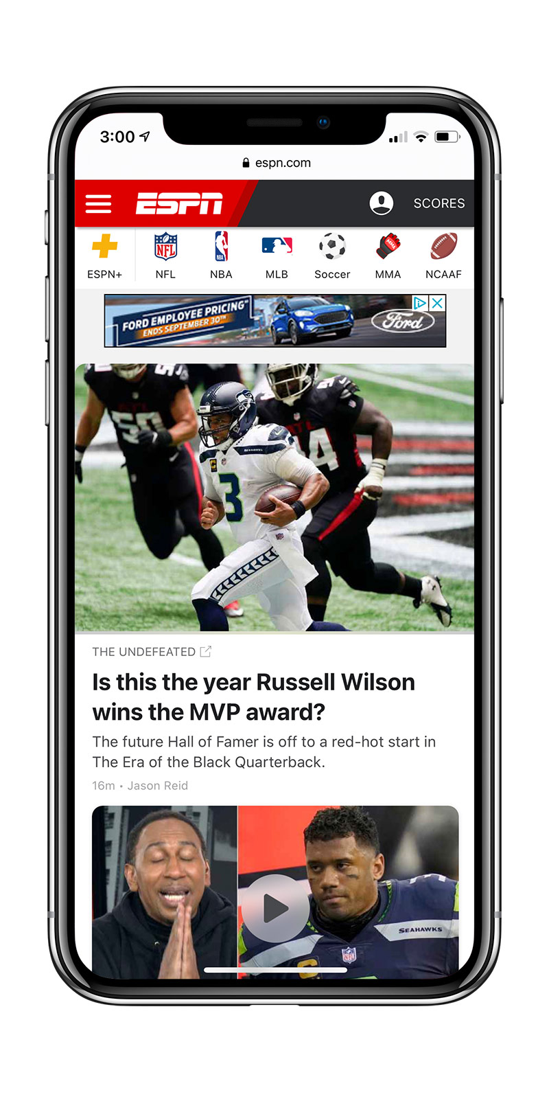 ESPN sports on mobile
