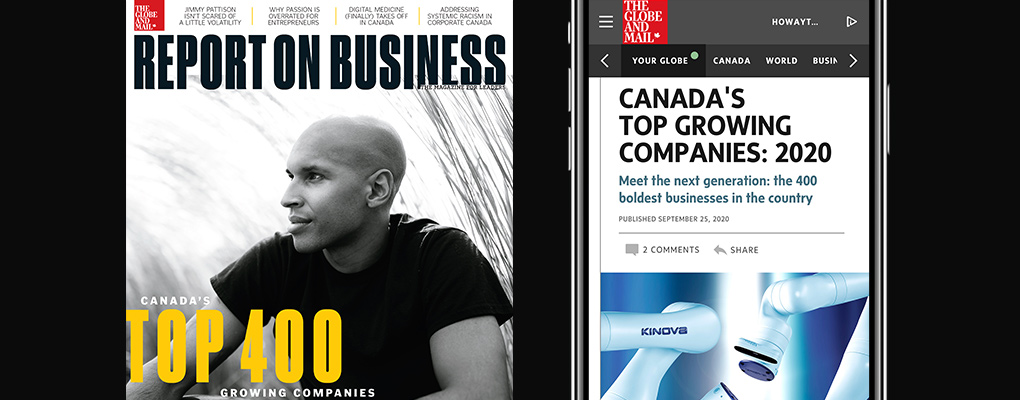 Report on Business magazine Top Growing Companies issue October 2021