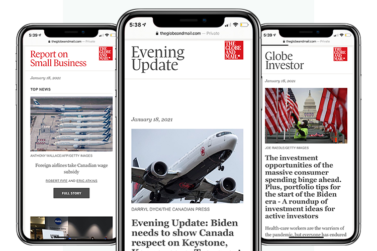 Globe-email-newsletters