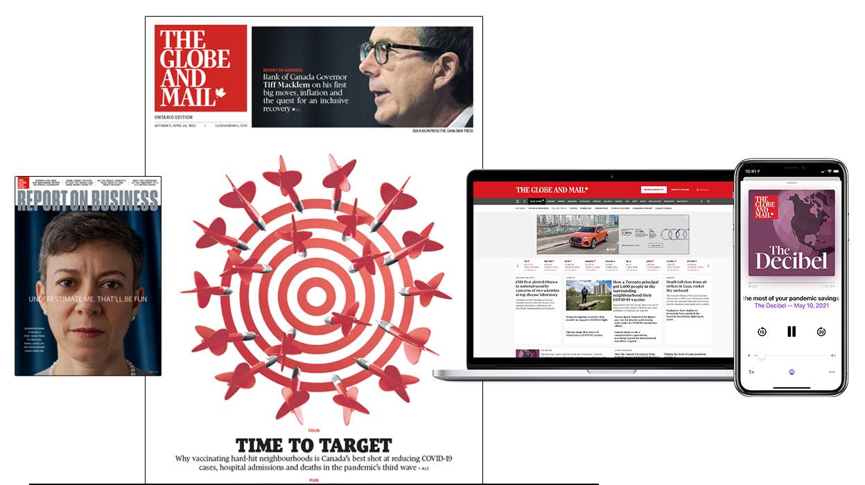 Globe newspaper, magazine and digital platforms