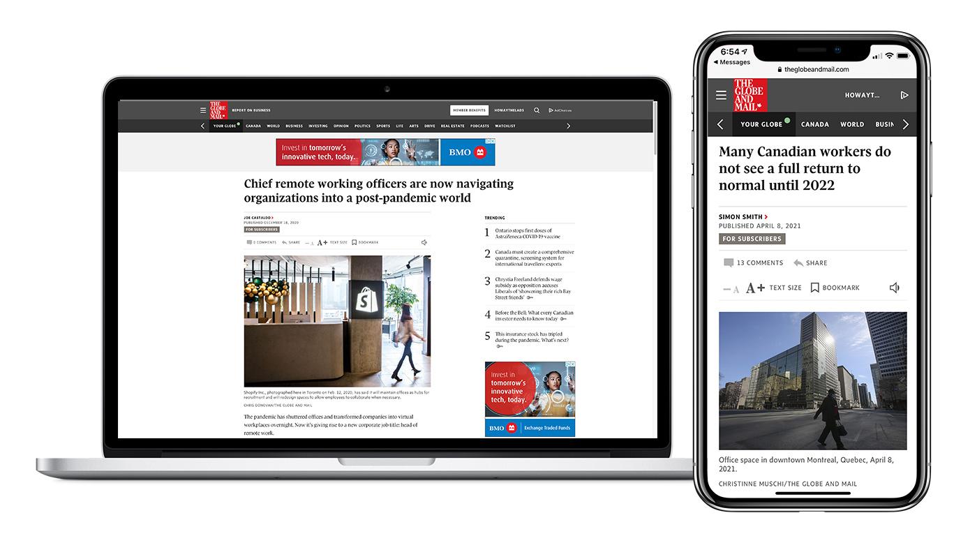 The Globe Future of Work custom content sponsorship