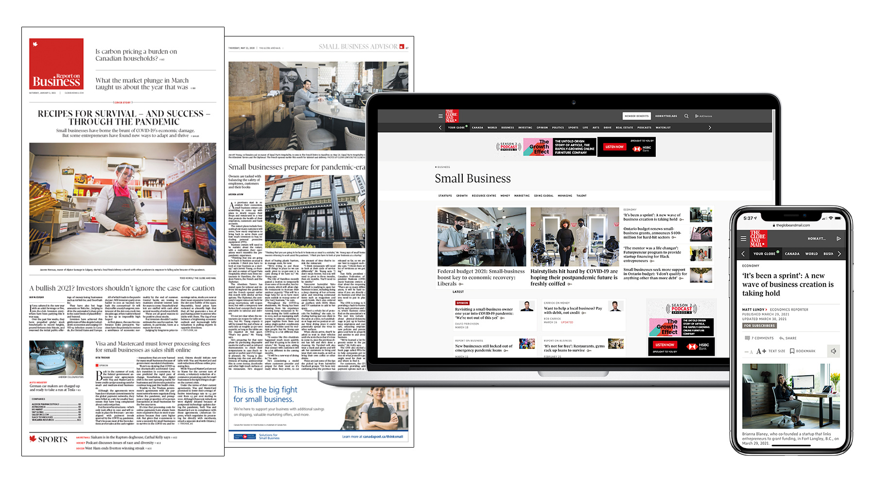 The Globe's Small Business coverage