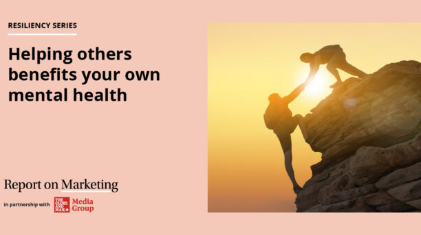 Helping others benefits your own mental health