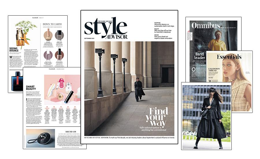 The new Globe Style Advisor magazine
